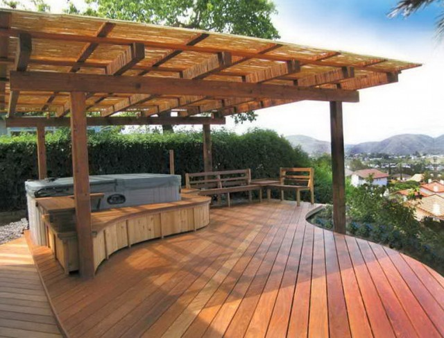 Wood Deck Covering Ideas
