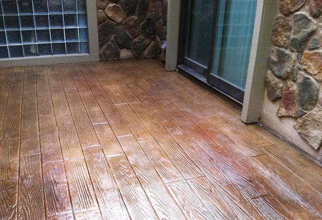 Wood Deck Over Concrete Patio