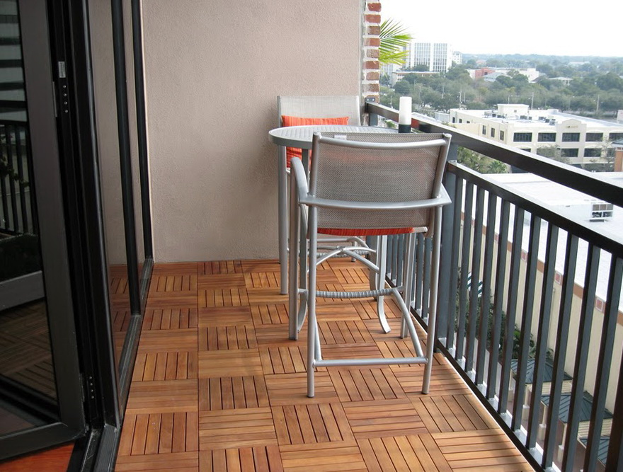 Wooden Deck Tiles Installation