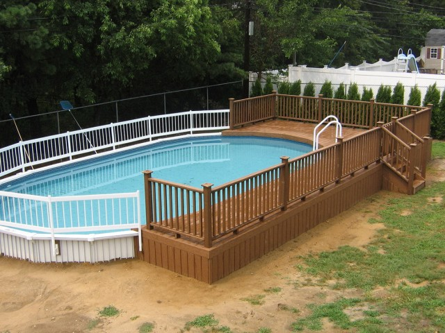 Above Ground Pool Deck Designs Free
