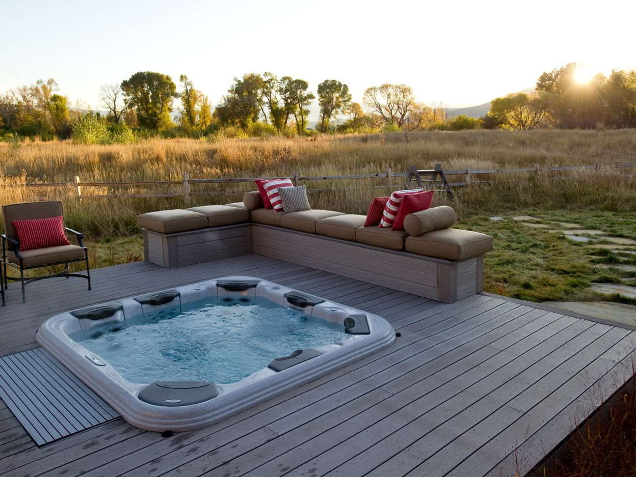 Backyard Deck Hot Tub Ideas