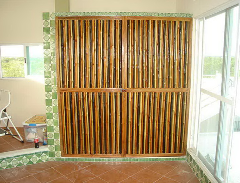 Bamboo Closet Door Curtains