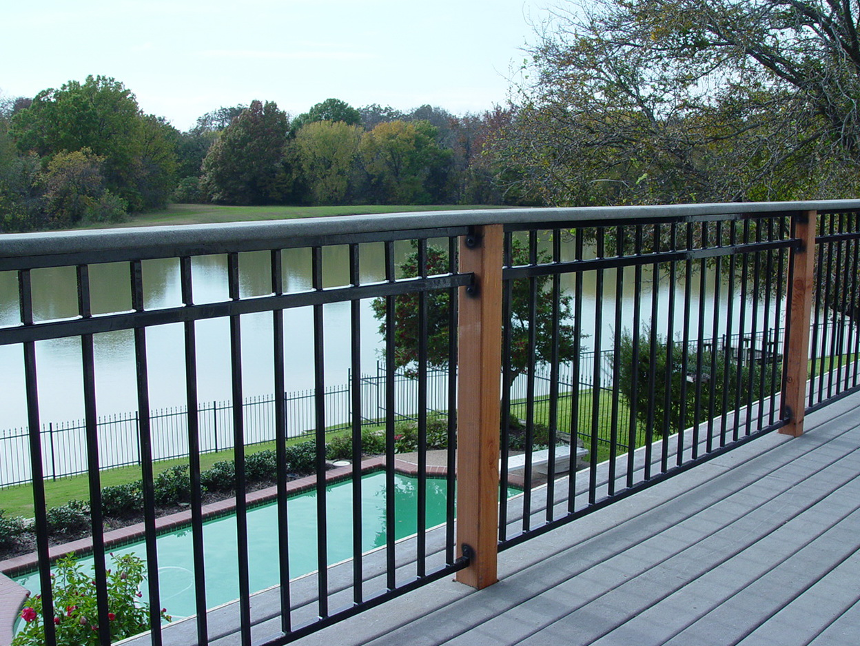 Black Steel Deck Railing