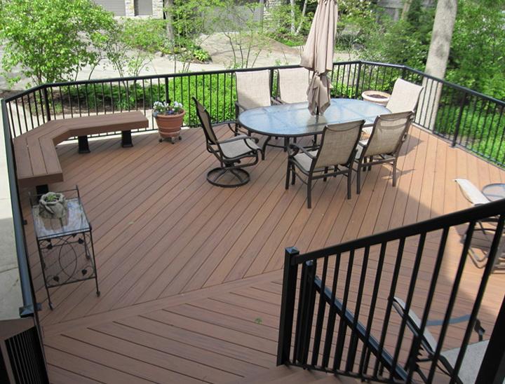 Bronze Aluminum Deck Railing