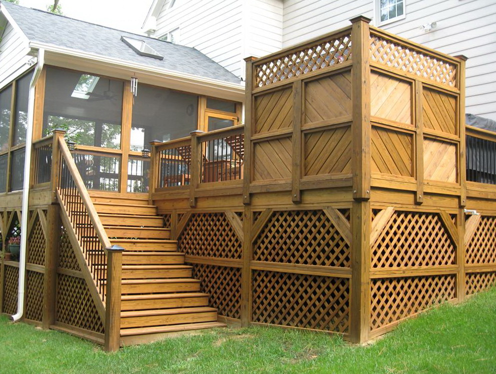 Building A Deck Railing With Lattice
