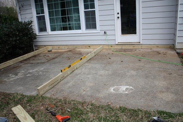Building A Ground Level Deck On Concrete