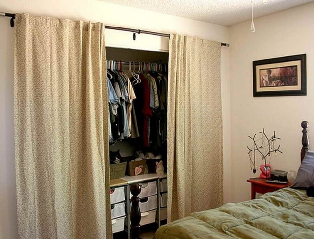 Closet Door Ideas Curtains