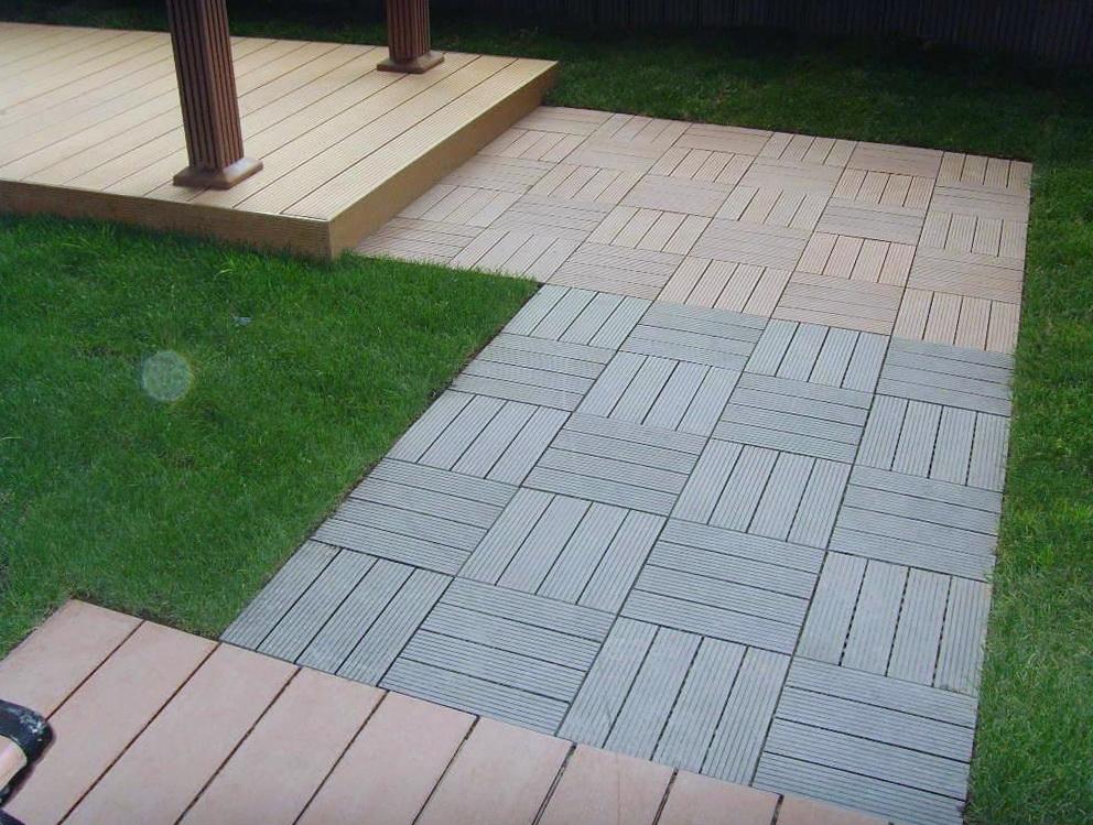Composite Deck Tiles On Grass