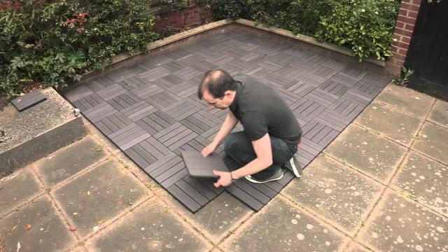 Composite Deck Tiles Over Concrete