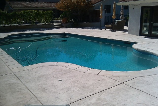 Concrete Pool Deck Texture