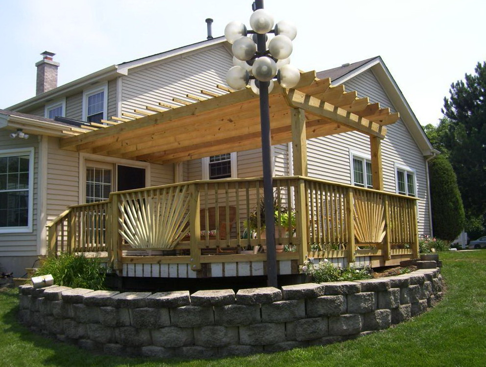 Covered Pergola On Deck
