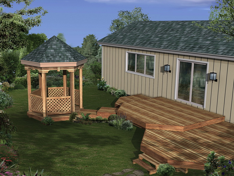 Deck Plans With Attached Gazebo