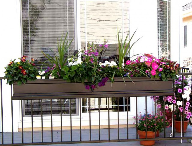Deck Railing Planter Box