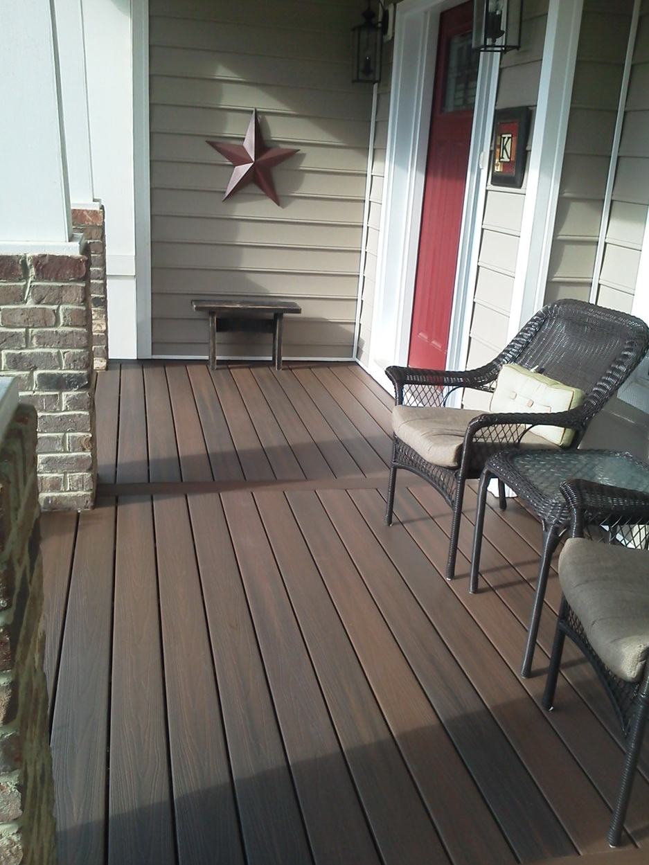 Deck Tiles Over Concrete Porch