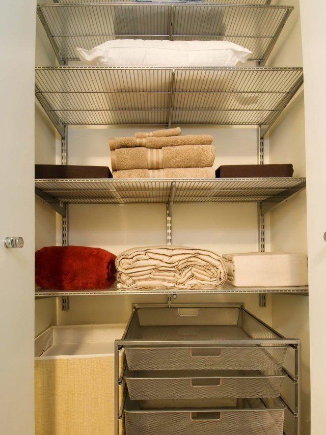 Deep Hall Closet Organization