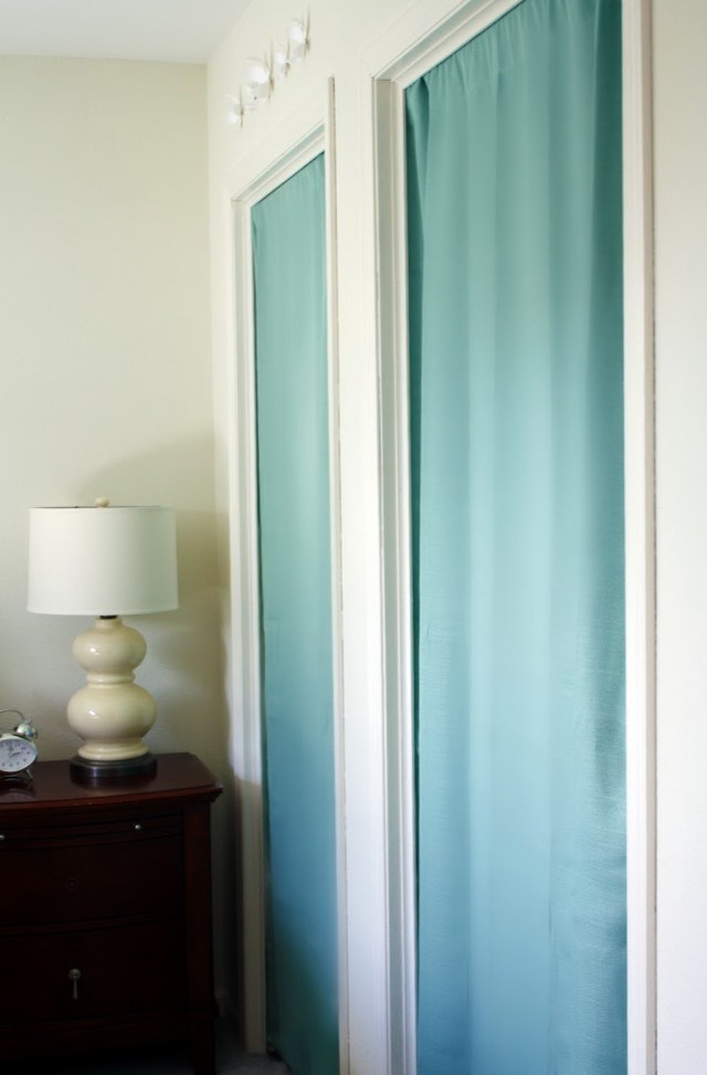 Diy Closet Door Curtains