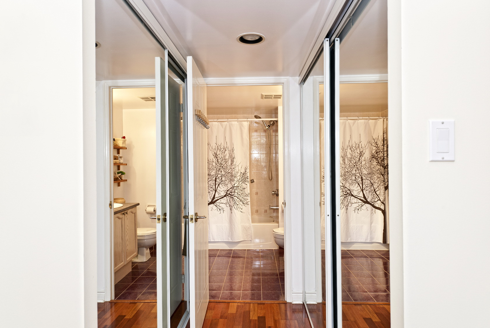 Folding Mirrored Closet Doors'