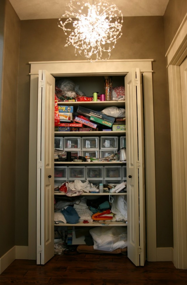 Front Hall Closet Organization