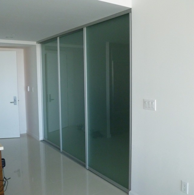 Frosted Glass Closet Doors
