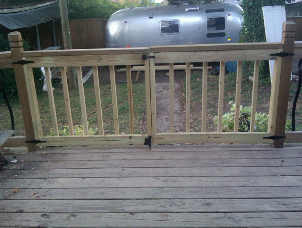 Gate For Outdoor Deck
