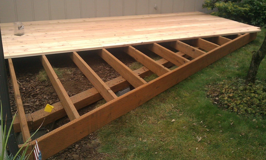 Ground Level Deck Footings
