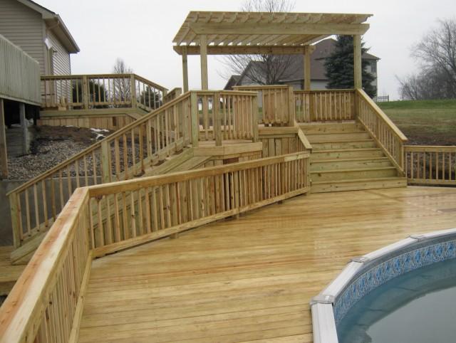 Ground Level Deck Steps