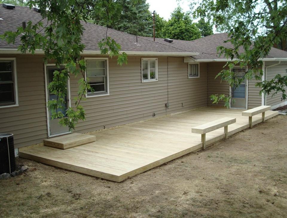 Ground Level Decks Plans