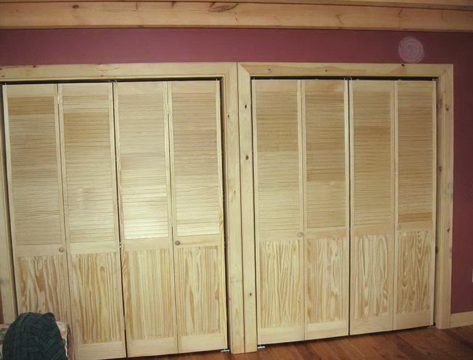 Half Louvered Bifold Closet Doors