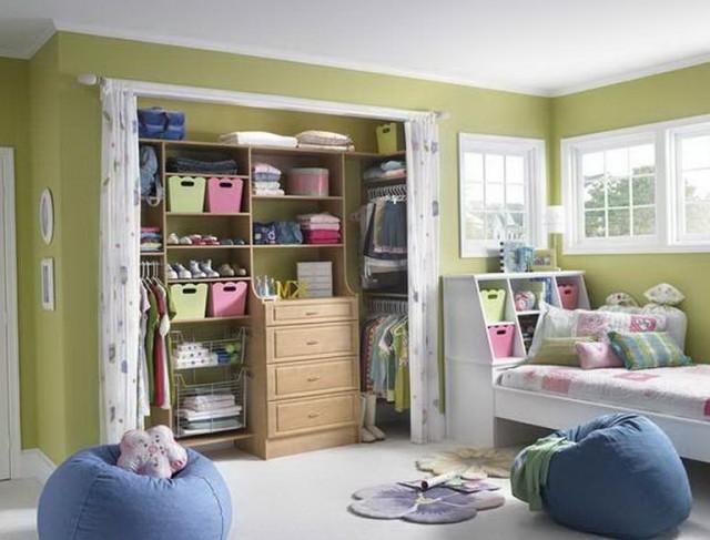 Ideas Curtains As Closet Doors