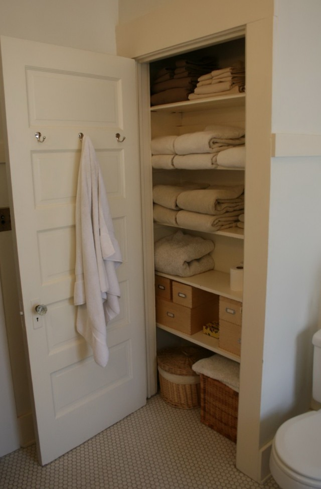 Linen Closet Organizers For Bathrooms