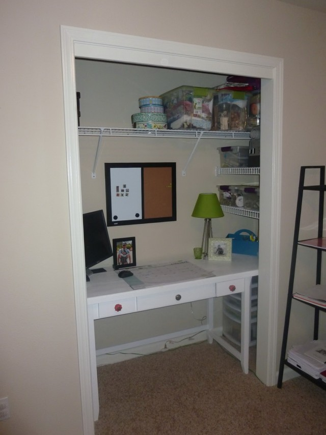 Office In A Closet Ideas
