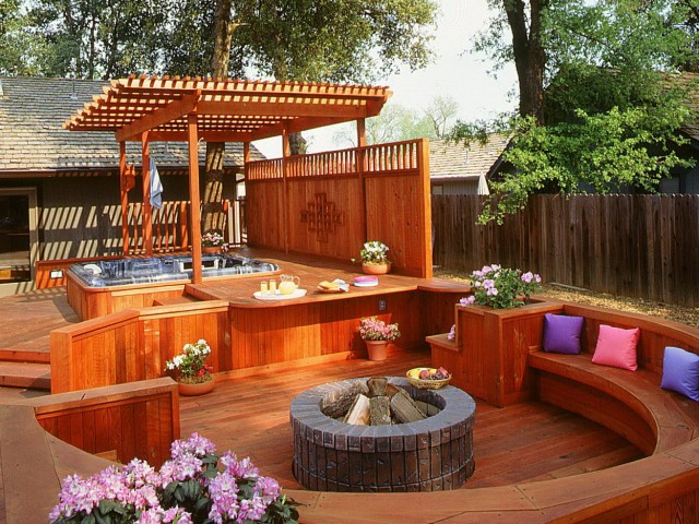 Outdoor Hot Tub Deck Designs