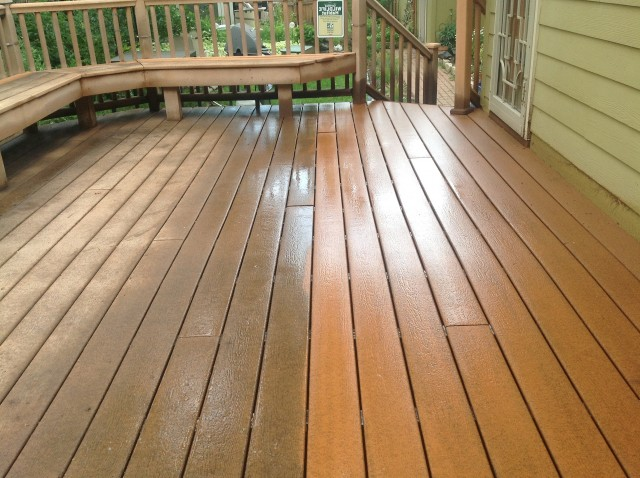 Power Washing Deck In Rain