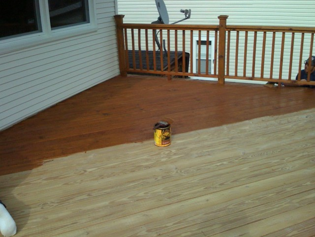 Power Washing Deck Stain