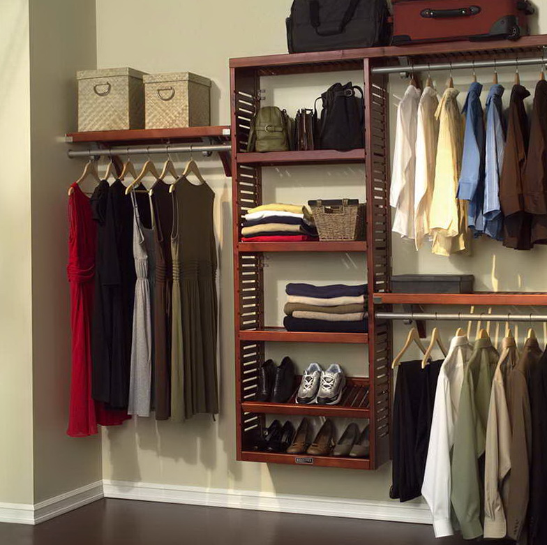 Reach In Wood Closet Organizers