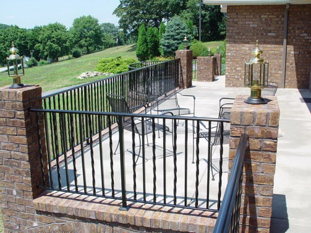 Rod Iron Deck Railing