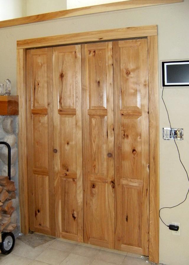 Rustic Bifold Closet Doors