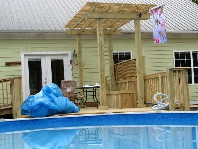 Side Deck Plans For Above Ground Pools