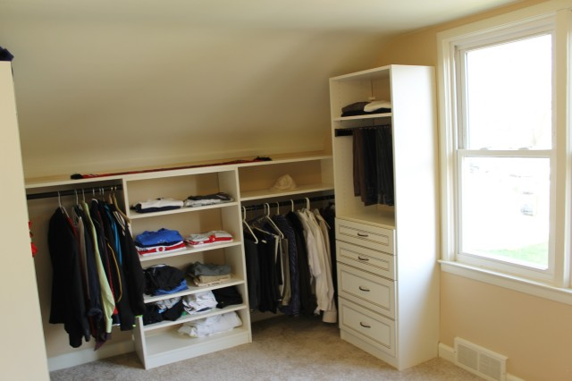 Slanted Wall Closet Ideas