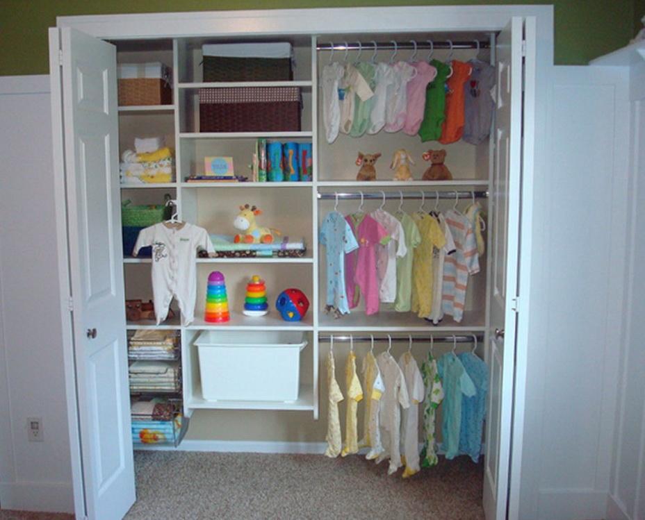 Small Nursery Closet Organization Ideas