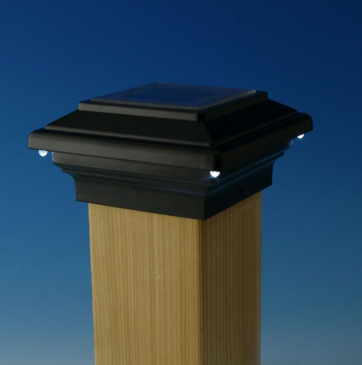 Solar Deck Lighting Post Caps