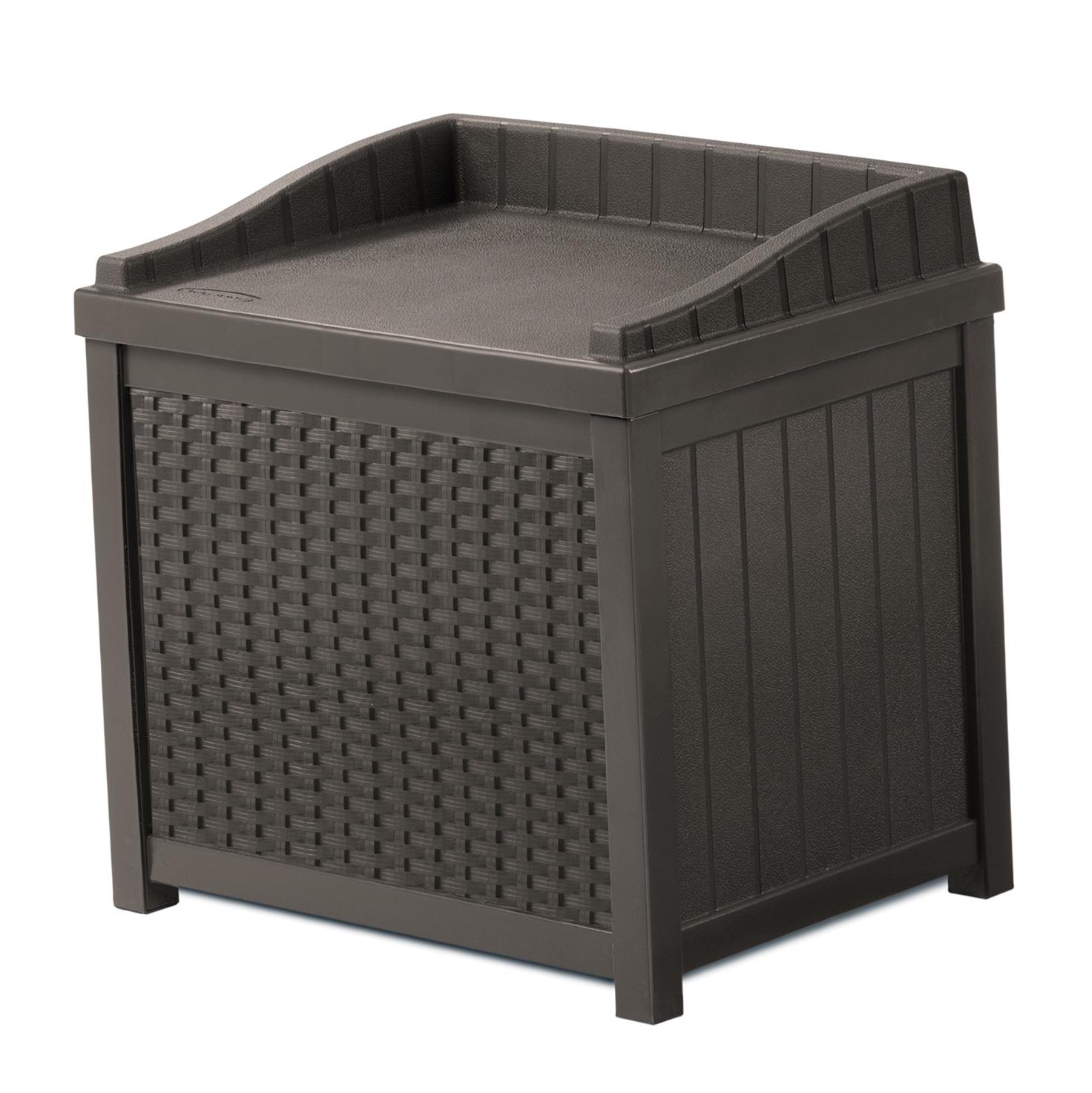 Suncast Resin Wicker Deck Box 22 Gallon