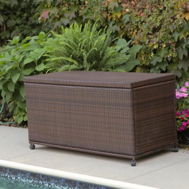 Suncast Resin Wicker Deck Box (99 Gallon)