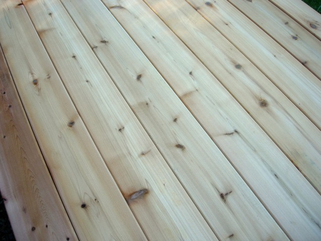 Tight Knot Cedar For Decking At Home Depot
