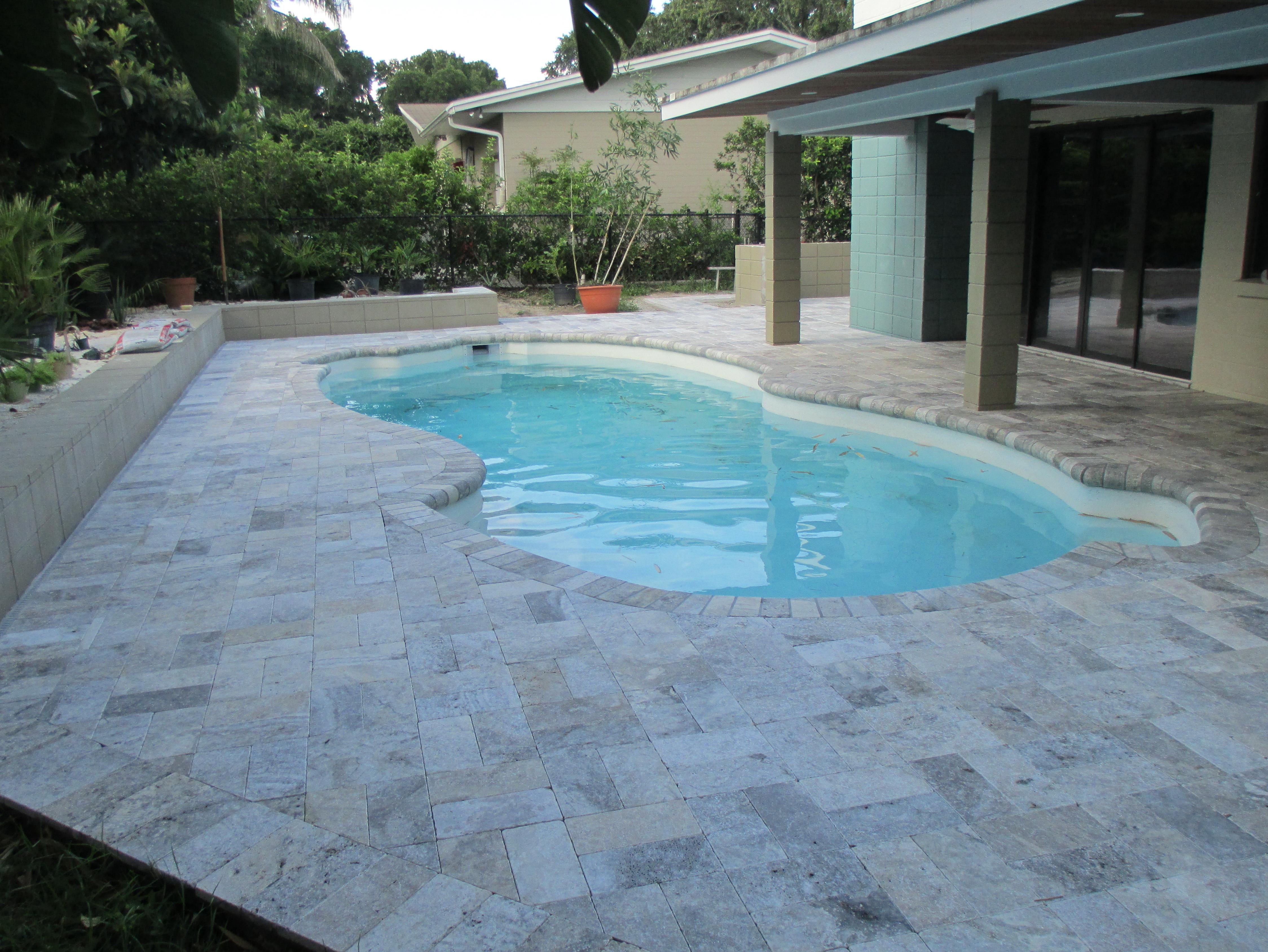 Travertine Pool Deck Colors