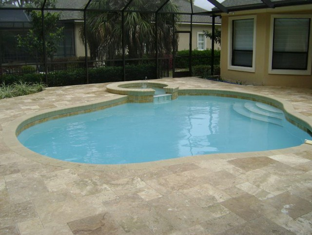 Travertine Pool Deck Cost