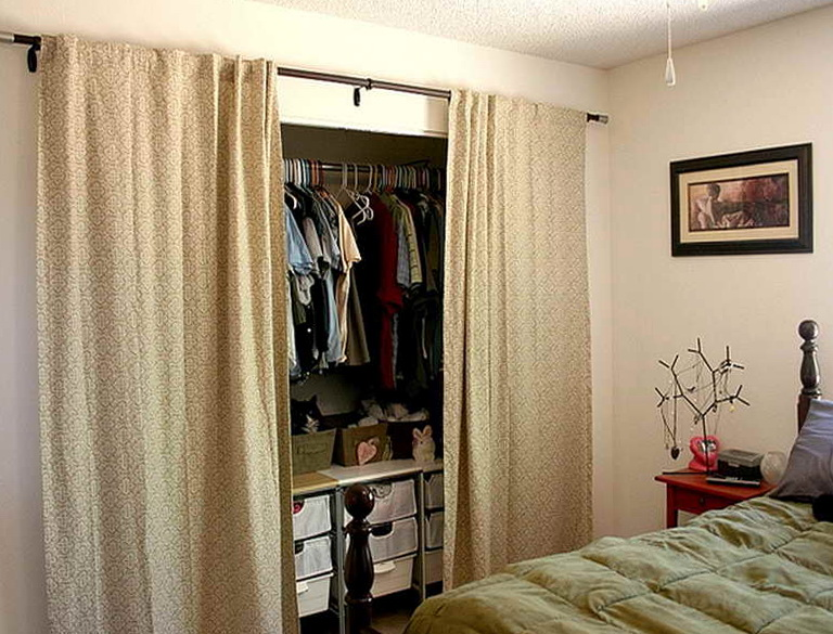Using Curtains As Closet Doors