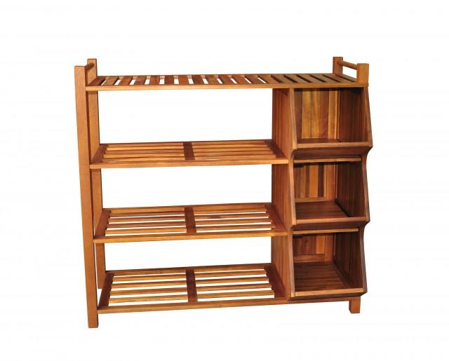 Wood Pallet Closet Organizer