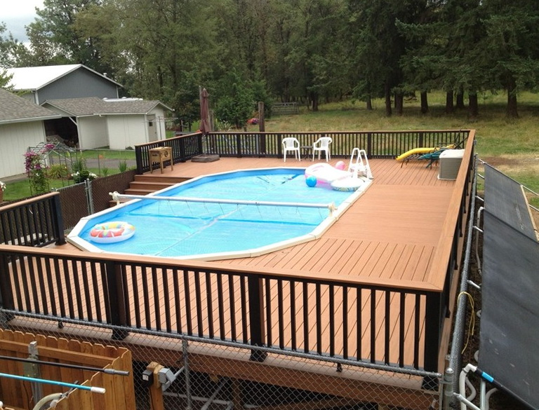 Wooden Deck Plans Above Ground Pools