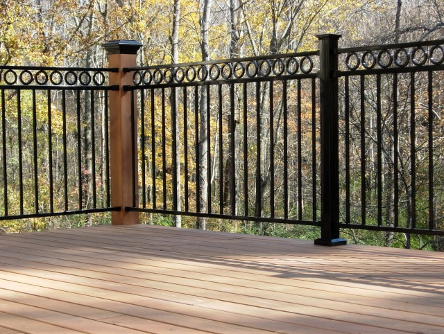 Wrought Iron Deck Railing Panels